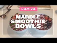 LIVE with ZOE - Marble Smoothie Bowls. Take your smoothie bowl game to the next level. Zoe shows us how to use plastic baggies and toothpicks to turn breakfast into an Instagram-able work of art!