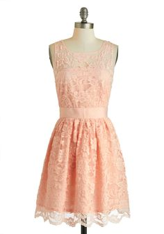 When the Night Comes Dress in Petal by BB Dakota - Pink, Party, A-line, Sleeveless, Spring, Exclusives, Solid, Scallops, Scoop, Wedding