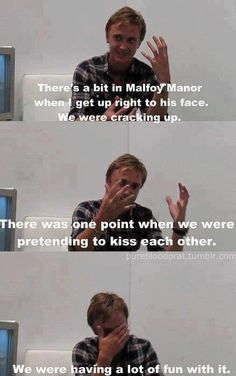 Biggest Drarry shipper of all time, Tom Felton