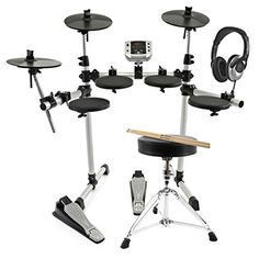 awesome       £229.99  The Gear4music DD400 Electronic Drum Kit has a super compact frame ideal for bedrooms and small studios or practice spaces. A...  Check more at http://fisheyepix.co.uk/shop/digital-drums-400-compact-electronic-drum-kit-package-deal/