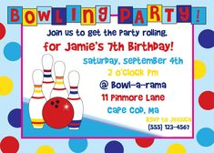 Free printable kids bowling party invitations download get this bowling birthday party invitation girl via etsy kayla filmwisefo