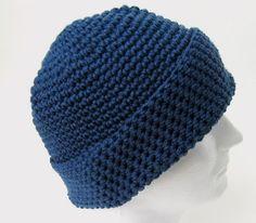 Crochet Pattern Beanie Hat Men Women Teen- ONE SKEIN Pattern