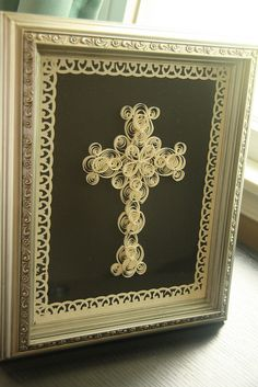 Paper Quilled Cross.