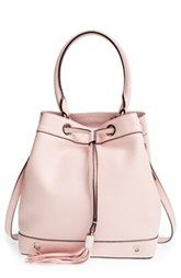 Milly 'Astor' Pebbled Leather Bucket Bag