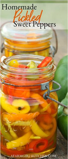 Get the #recipe for these amazing Pickled Sweet Peppers. So easy to make with only a few simple ingredients. #pickled #sweetpeppers #ballcanning #canning #Southernrecipes #pickling #easyrecipe #pickledpeppers Pickled Pepper Recipe, Pickled Sweet Peppers, Stuffed Sweet Peppers, How To Pickle Peppers, Pickling, Canning Recipes, Southern Recipes, A Food, Breakfast Recipes