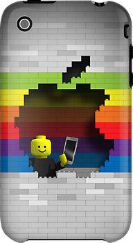 Lego Retro Rainbow Apple Logo by Alisdair Binning Rainbow Apple Logo, Apple Wallpaper, Gadgets, Retro, Logos, Beauty, Gadget, Logo, Mid Century