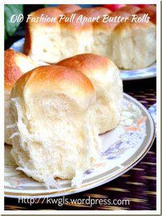 Old Fashion Pull Apart Butter Buns (古早味牛油餐包) Bread Bun, Bread Cake, Bread Rolls, Bread Toast, Bread Recipes, Baking Recipes, Milk Bun, Japanese Bread, Homemade Dinner Rolls