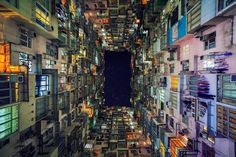 It always amazes me how people can live in cramped conditions, but where space is at a premium, I guess there is little choice. This is a housing estate in Quarry Bay, Hong Kong. The size of this place reminds me of Kowloon Walled City.