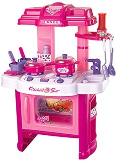 Berry Toys Fun Cooking Plastic Play Kitchen Pink >>> Find out more about the great product at the image link.