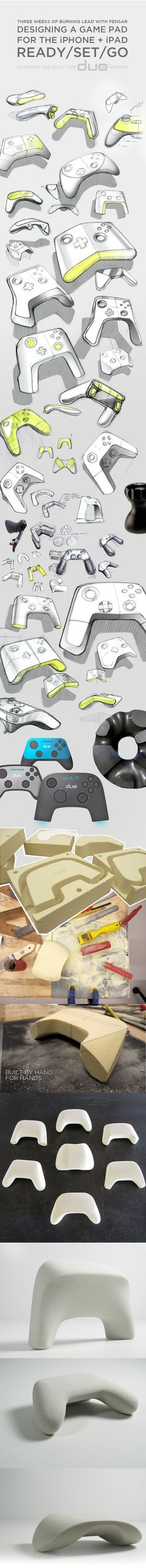 GAMER PRO on Industrial Design sketches, prototypes revealed, blind tests. Shows the process of design that students can see. Career exposure