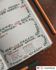 Cute daily page decor by 🌸 Bullet Journal Christmas, December Bullet Journal, Bullet Journal Cover Page, Bullet Journal Notebook, Bullet Journal Inspo, Bullet Journal Tracker Ideas, Bullet Journal Headers, Bullet Journal Layout, Daily Page