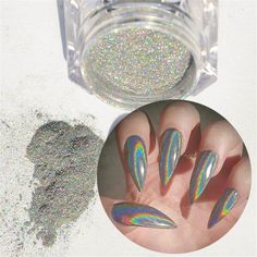 NICOLE DIARY 1g/Box Holographic Laser Powder Nail Glitter Rainbow Pigment Manicure Chrome Pigments *** See this great product.