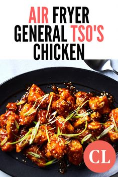 Air-fried General Tso's Chicken - air fryer and recipes - Air Fryer Recipes Wings, Air Fryer Recipes Snacks, Air Fryer Recipes Vegetarian, Air Fryer Recipes Low Carb, Air Fryer Recipes Breakfast, Air Frier Recipes, Air Fryer Dinner Recipes, Healthy Recipes, Air Fryer Recipes For Chicken