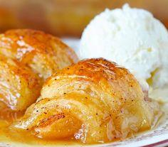 Apple Crescent Rolls, Crescent Roll Apple Dumplings, Easy Apple Dumplings, Pampered Chef, Apple Desserts, Dessert Recipes, Trifle Desserts, Breakfast Recipes, Recipes Dinner