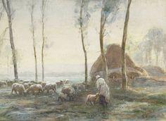 Painter Anton Mauve | – Anton Mauve, Dutch painter (d. 1888) | 197: Dutch, Anton Mauve ...