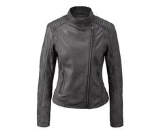 Motorcycle Jacket, Leather Jacket, Fashion Outfits, Zip, My Style, Style Clothes, Products, Mandarin Collar, Jackets