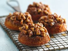 Gluten Free Sticky Pecan - Caramel Fig Cakes - might change out the fig preserves when I try it.
