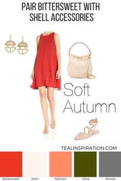 How to Wear Red if You're an Autumn – Teal Inspiration Soft Autumn Deep, Warm Autumn, Warm Spring, Soft Autumn Color Palette, Autumn Colours, Colour Pallete, Color Palettes, Seasonal Color Analysis, Autumn Lights