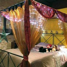 Get These Top Trending canopy bed curtains at jysk only on this page Canopy Bed Curtains, Diy Curtains, Homemade Canopy, Curtains Walmart, Hair Tutorials For Medium Hair, Ikea, Curtain Lights, Top Trending