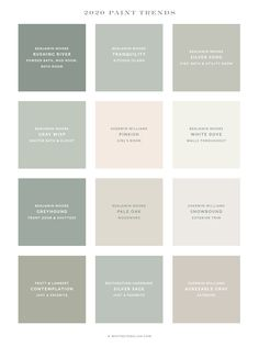 Home Paint Color Palette 2019 with Whitney English! Sharing my personal color palette used for the interior and exterior of my home plus 2020 color trends. Top Paint Colors, Interior Paint Colors, Paint Colors For Home, House Colors, Indoor Paint Colors, Best Bedroom Paint Colors, Cabinet Paint Colors, House Color Palettes, Paint Color Palettes