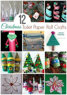 12 Christmas projects using empty toilet paper rolls for your holiday crafting fun!