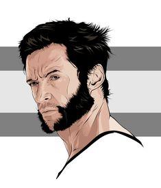 Portrait Vector, Digital Portrait, Portrait Art, Portrait Illustration, Digital Illustration, Vector Character, Wolverine Art, Art Simple, Smoke Photography