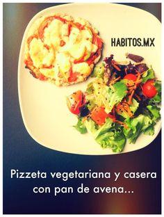 Pizzeta vegetariana.