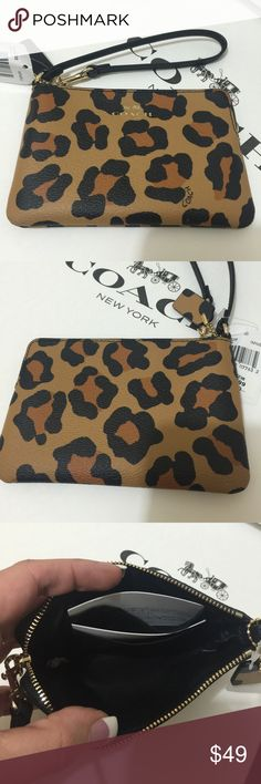 NWT Coach Ocelot Wristlet! Brand new with tags! No longer available in stores! Coach Bags Clutches & Wristlets