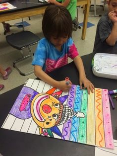 Jamestown Elementary Art Blog: Kindergarten & 1st Grade rainbow clowns