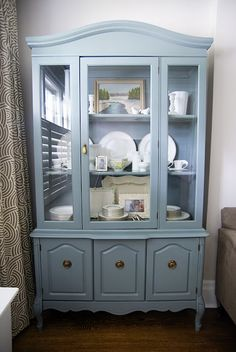 Rambling Renovators: Living Room: A Painted Hutch
