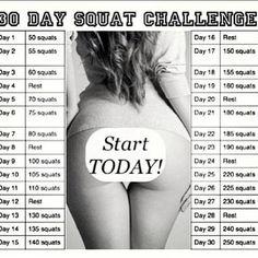 30 Day Squat Challenge! | onmywaytohealth