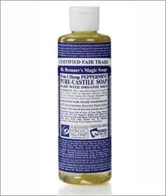 Dr. Bronner's Magic Soap - Pure Castile. Love these soaps, safe for bathing pets too!