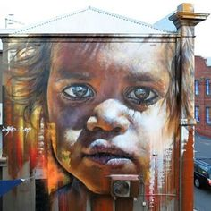 Visit all of Adante's public Aboriginal portrait murals that can be found throughout Australia and Singapore Street Mural, Street Art Graffiti, Art Faces, Face Art, Australian Aboriginals, Bear Tattoos, Australian Art, Indigenous Art, Aboriginal Art