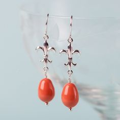 These summer bright earrings are sultry charmers.