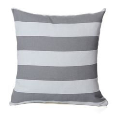 Canvas Striped Waist Throw Pillow Cases Sofa Back Car Cushion Cover Home Decor Throw Pillow Cases, Throw Pillows, Striped Cushions, Decorative Cushions, Shades Of Grey, Monochrome, Indoor, Canvas, Interior