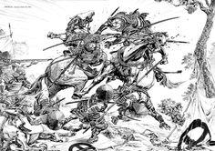 "artwatcher: """" ""Hiroshi Hirata is a Japanese manga artist best known in the United States for the samurai manga series Satsuma Gishiden. Hirata's works belong to the subset of manga known as ""gekiga""..."
