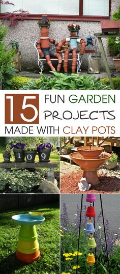 Here is a collection of clay pot DIY projects that every gardener should try to beautify their garden.