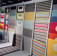 Colorful Indoor/Outdoor Rugs from Pappelina NY NOW Gift Fair