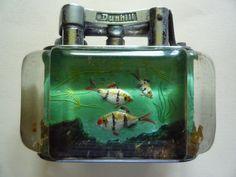 DUNHILL AQUARIUM TABLE LIGHTER 1950 s HALF GIANT