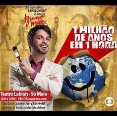 Agenda Cultural RJ: Um Milhão de Anos em Uma Hora no Teatro Leblon – S...