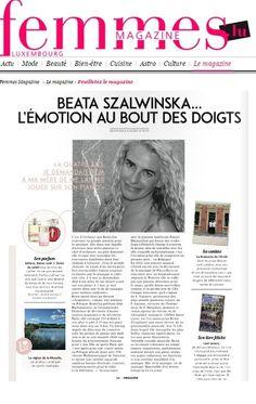 #ARTYKUŁ #FemmesMagazine Na łamach kobiecego magazynu Femmes Beata Szalwinska opowiada o swoich wymarzonych świętach i ulubionych miejscach w Luksemburgu.  #artCONNECTIONmusic