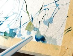 This is another fun thing I've seen before, but haven't tried yet. Straw Painting Art Tutorial