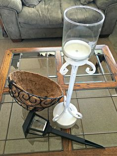 Solar Lamp DIY - Add style and ambiance to your outdoor living with this easy DIY project. Light up your evenings on the patio.  I have been wanting to make a s…