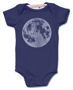 Navy Full Moon Baby Bodysuit - short sleeve shirt, unisex luna science screenprint, stars lunar space awesome clothes for kids babies boy by alittlelark on Etsy https://www.etsy.com/listing/204062108/navy-full-moon-baby-bodysuit-short
