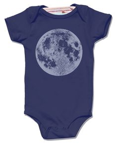 Navy Full Moon Baby Bodysuit - short sleeve shirt, unisex luna science screenprint, stars lunar space awesome clothes for kids babies boy by alittlelark on Etsy https://www.etsy.com/listing/204062108/navy-full-moon-baby-bodysuit-short