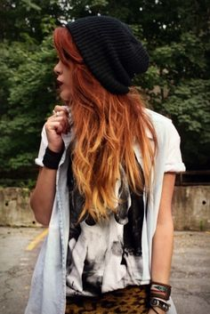 I wish my hair was long enough to ombré!! Love the red ombré look!