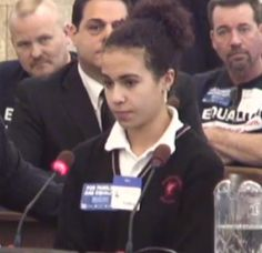 "Watch as 15-year-old Madison Galluccio brings the house down (and to tears) with her incredible plea to allow her fathers to marry. ""I do have to say that New Jersey has made me feel discriminated, like I'm some sort of outcast. But, guess what, New Jersey? I'm no outcast. I am Madison Galluccio, and I am part of the Galluccio family..."""