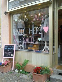 Hallo Herz. Loved this cool boutique on Kastanienallee (Prenzlauerberg)