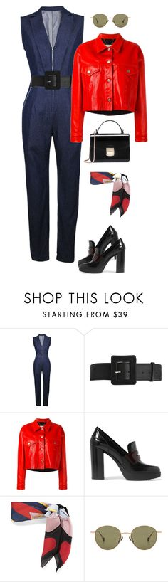 """Sin título #496"" by hannymontanita on Polyvore featuring moda, WithChic, Alice + Olivia, Golden Goose, Tod's, Gucci y Ahlem"