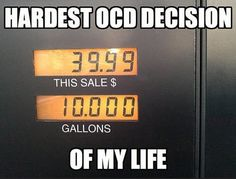 Hopefully I'm not the only one who gets a little bit of joy out of pegging a round number while filling up the gas tank.  I've been a numbers guy my whole life, though…have a great Friday and weekend!